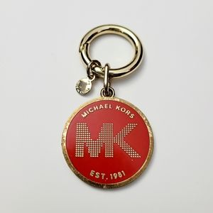 Michael Kors Red & Gold Keychain